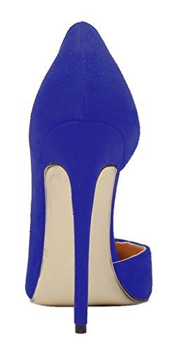 Guoar-Womens-Stiletto-Heels-Sandals-Big-Size-Shoes-Pointed-Toe-DOrsayTwo-Piece-Pumps-for-Wedding-Party-Dress-Blue-US8-0-2