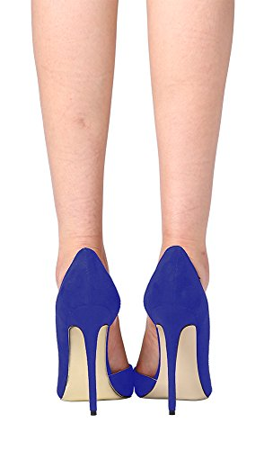 Guoar-Womens-Stiletto-Heels-Sandals-Big-Size-Shoes-Pointed-Toe-DOrsayTwo-Piece-Pumps-for-Wedding-Party-Dress-Blue-US8-0-4
