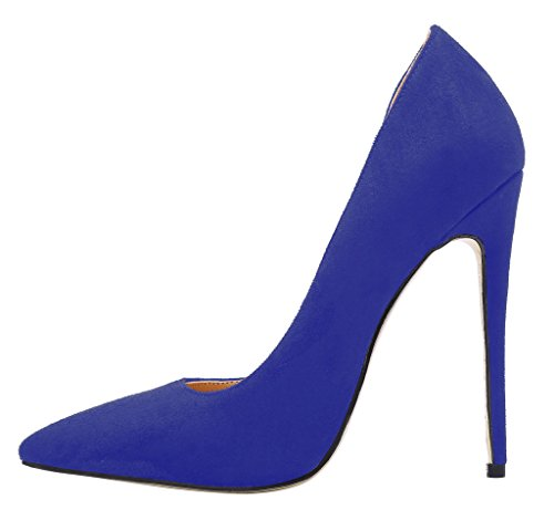 Guoar-Womens-Stiletto-Heels-Sandals-Big-Size-Shoes-Pointed-Toe-DOrsayTwo-Piece-Pumps-for-Wedding-Party-Dress-Blue-US8-0