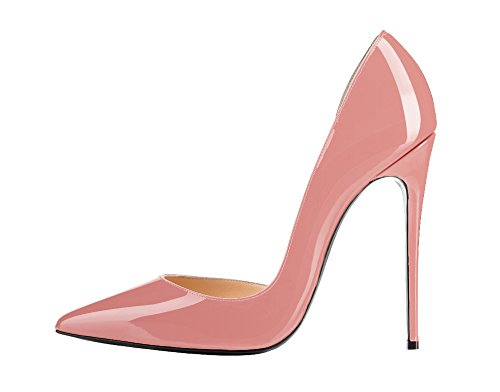 Guoar-Womens-Stiletto-Heels-Sandals-Big-Size-Solid-Shoes-Pointed-Toe-DOrsayTwo-Piece-Pumps-for-Wedding-Party-Dress-Pink-US11-0