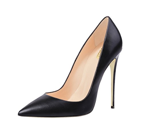 Guoar-womens-Pointed-Toe-High-Heels-Black-Soft-Leather-Pumps-Shoes-for-Party-Banquet-Shoes-size-5-12-US-8-0-0