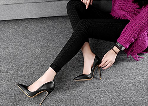 Guoar-womens-Pointed-Toe-High-Heels-Black-Soft-Leather-Pumps-Shoes-for-Party-Banquet-Shoes-size-5-12-US-8-0-2