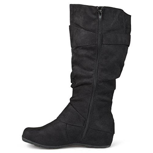 Journee-Collection-Womens-Regular-Sized-and-Wide-Calf-Slouch-Buckle-Knee-High-Microsuede-Boot-Black-10-Wide-Calf-0-0