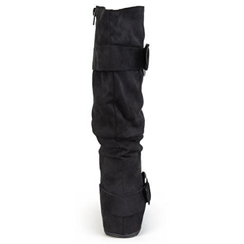 Journee-Collection-Womens-Regular-Sized-and-Wide-Calf-Slouch-Buckle-Knee-High-Microsuede-Boot-Black-10-Wide-Calf-0-1