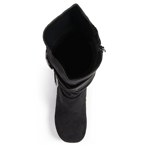 Journee-Collection-Womens-Regular-Sized-and-Wide-Calf-Slouch-Buckle-Knee-High-Microsuede-Boot-Black-10-Wide-Calf-0-2