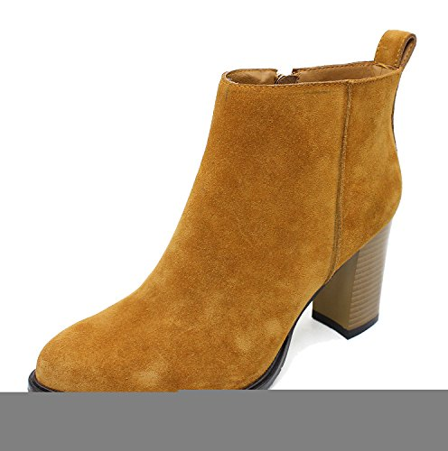 Guoar-Women-Closed-Toe-85CM-Block-High-Heels-Dressy-Ankle-Boots-0
