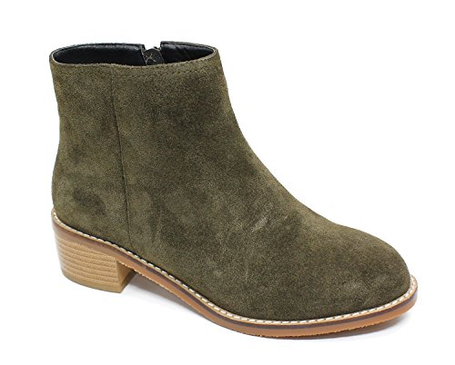 Guoar-Women-Round-Toe-Low-Block-Heels-Casual-Ankle-Boots-0