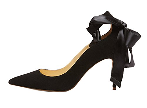Guoar-Womens-Ankle-Strappy-Pointed-Toe-High-Heels-Comfort-Stiletto-Lace-Up-Pumps-Dress-Shoes-size-5-12-Black-US-95-0
