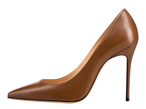 Guoar-Womens-Classic-Pointed-Toe-High-Heels-Stiletto-PU-Pumps-Dress-Shoes-Sandals-size-5-12-US-Coffee-US-12-0-0