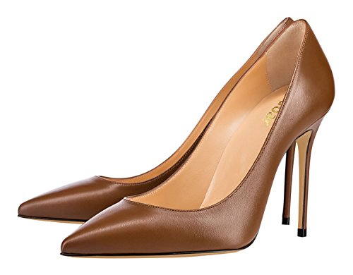 Guoar-Womens-Classic-Pointed-Toe-High-Heels-Stiletto-PU-Pumps-Dress-Shoes-Sandals-size-5-12-US-Coffee-US-12-0-1