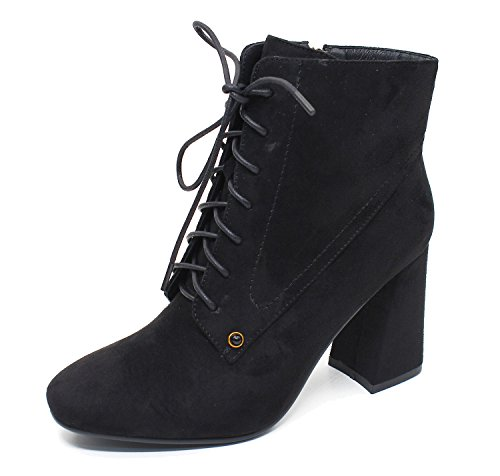 Guoar-Womens-Fashion-Block-Heels-Lace-Up-Ankle-Booties-0