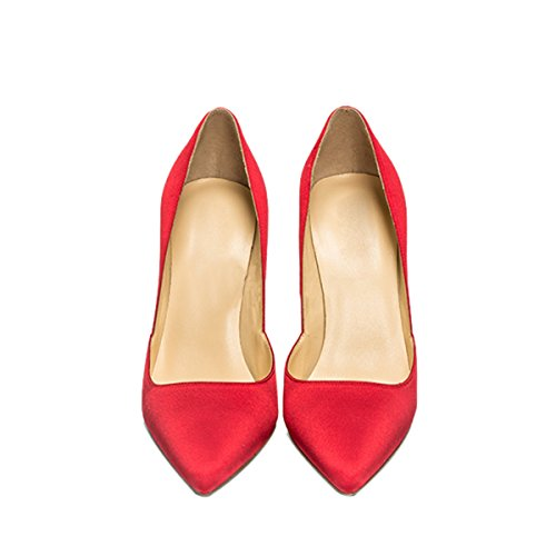 Guoar-Womens-Pointed-Toe-High-Heel-Shoes-Stiletto-Pumps-V-Cut-Dress-Shoes-size-5-12-Red-Satin-US-8-0-2