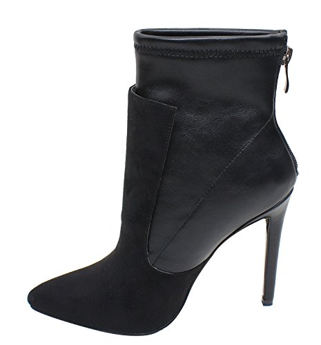 Guoar-Womens-Pointed-Toe-Stiletto-Heels-Stitching-Ankle-Boots-0