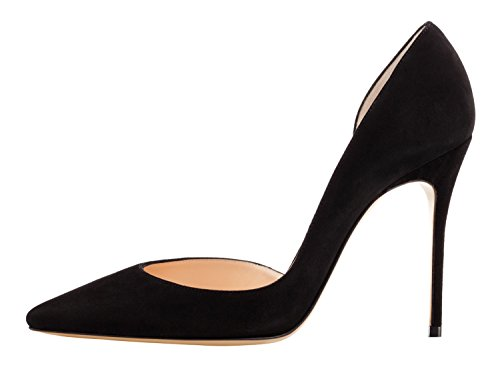 Guoar-Womens-Pointy-Toe-Stiletto-High-Heesl-DOrsay-Pumps-Party-Wedding-Prom-Dress-Shoes-size-5-12-Black-Suede-US-12-0-0