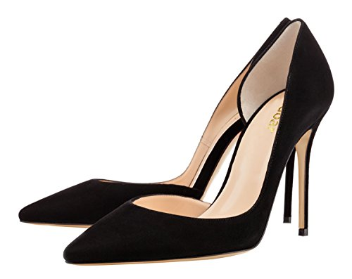 Guoar-Womens-Pointy-Toe-Stiletto-High-Heesl-DOrsay-Pumps-Party-Wedding-Prom-Dress-Shoes-size-5-12-Black-Suede-US-12-0-1