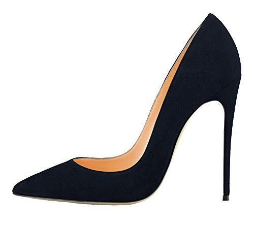 Guoar-Womens-Stiletto-Big-Size-Shoes-Pointed-Toe-Patent-Ladies-Solid-Pumps-for-Work-Place-Dress-Party-Dark-Blue-Suede-US10-0