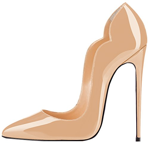Guoar-womens-Multicolor-Heat-girl-Pointed-Toe-High-Heels-Nude-Patent-Pumps-Shoes-size-5-12-US-10-0