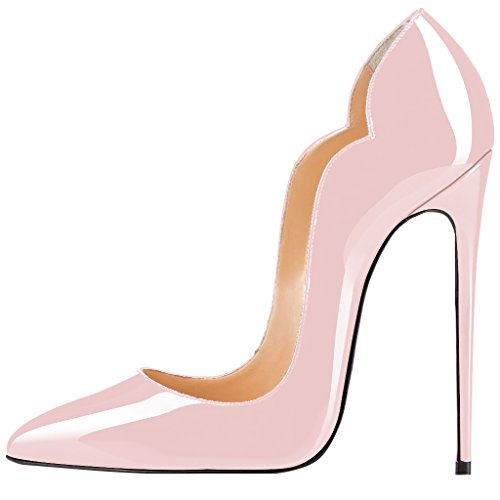 Guoar-womens-Multicolor-Heat-girl-Pointed-Toe-High-Heels-Pink-Patent-Pumps-Shoes-size-5-12-US-12-0
