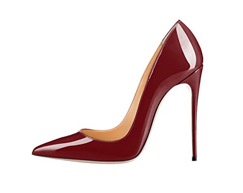 Guoar-womens-Pointed-Toe-High-Heels-Burgundy-Patent-leather-Pumps-Shoes-for-Party-Banquet-Shoes-size-5-12-US-10-0