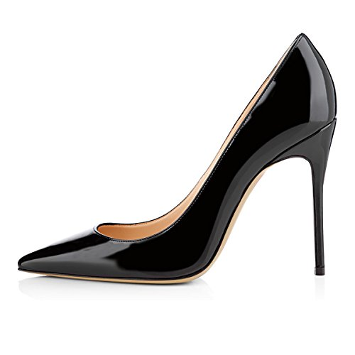 Guoar-womens-Pointed-toe-Shallow-Mouth-10CM-Stiletto-high-heel-pumps-Size-4-12-US-0-1