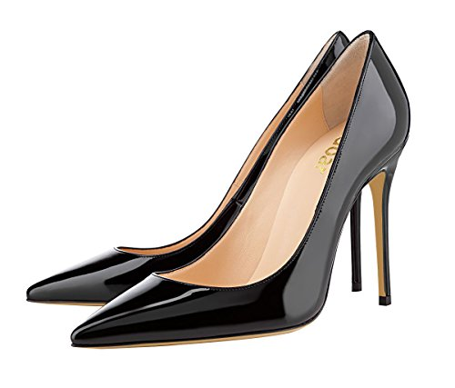 Guoar-womens-Pointed-toe-Shallow-Mouth-10CM-Stiletto-high-heel-pumps-Size-4-12-US-0-2