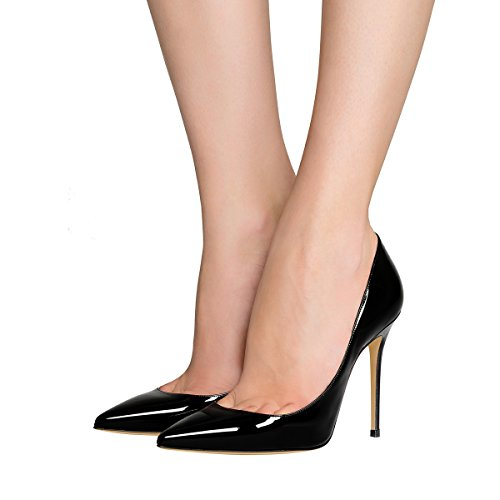 Guoar-womens-Pointed-toe-Shallow-Mouth-10CM-Stiletto-high-heel-pumps-Size-4-12-US-0-3