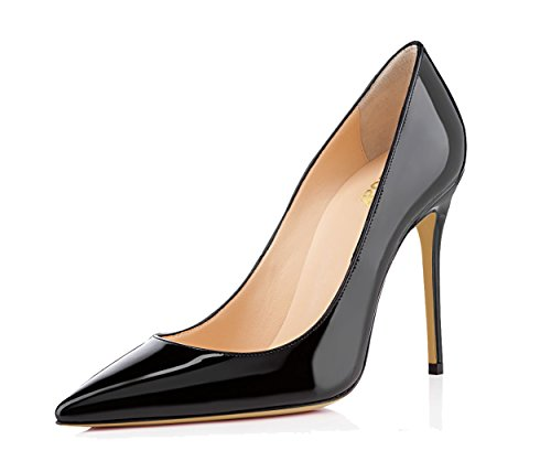 Guoar-womens-Pointed-toe-Shallow-Mouth-10CM-Stiletto-high-heel-pumps-Size-4-12-US-0