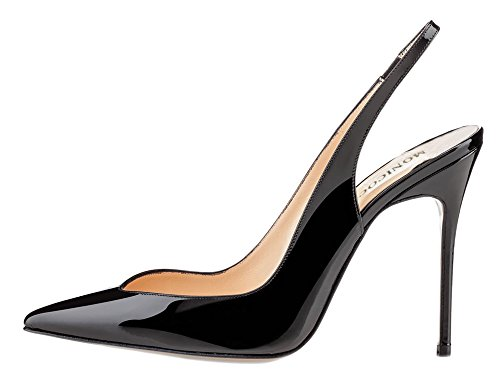 MONICOCO-Womens-Elastic-Slingback-Heels-Pumps-Shoes-Black-Patent-15-M-US-0