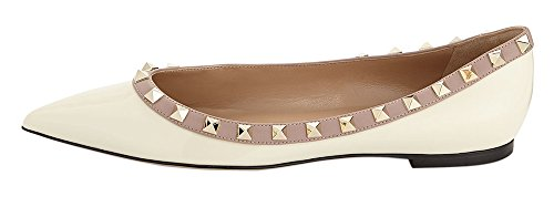 MONICOCO-Womens-Flat-Shoes-Pointed-Toe-Studded-Patent-Pump-0-0