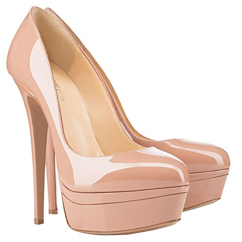 MONICOCO-Womens-High-Heel-Shoes-Party-Pumps-with-Platform-Solid-Nude-Patent-11-US-0-2