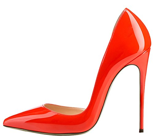 MONICOCO-Womens-High-Spike-Heel-Cut-Out-DOrsay-Pointed-Toe-Dress-Pump-for-Party-Wedding-Red-11-BM-US-0