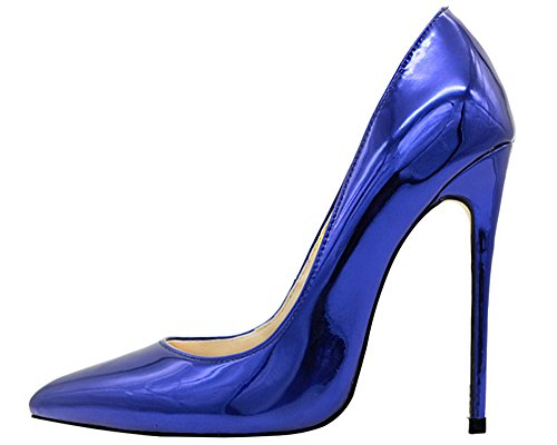 MONICOCO-Womens-Pointed-Toe-High-Heels-Dress-Party-Pumps-Shoes-Mirror-Patent-Blue-95-M-US-0