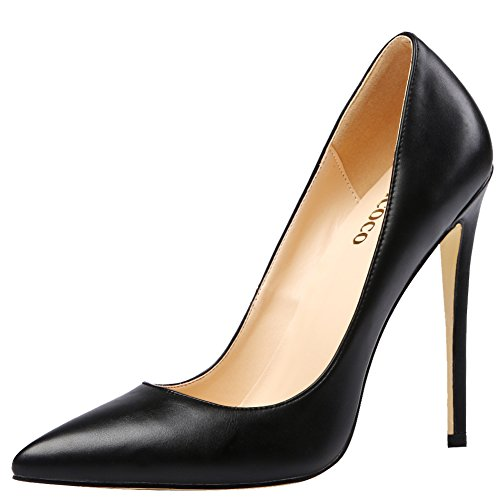 MONICOCO-Womens-Stiletto-Heel-Plus-Size-Shoes-Pointed-Toe-Pump-PU-Black-10-US-0-0