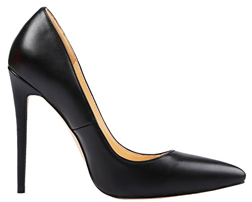 MONICOCO-Womens-Stiletto-Heel-Plus-Size-Shoes-Pointed-Toe-Pump-PU-Black-10-US-0-2