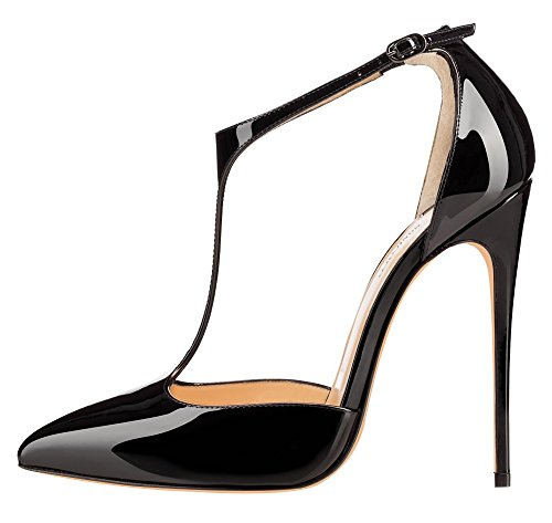 MONICOCO-Womens-Stiletto-Heel-Shoes-T-strap-Ankle-Strap-Patent-Pump-for-Wedding-Party-Dress-0
