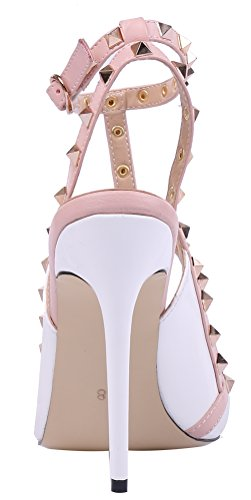 MONICOCO-Womens-Stiletto-Heels-Pumps-with-Studded-T-strap-Shoes-White-Patent-12-M-US-0-1