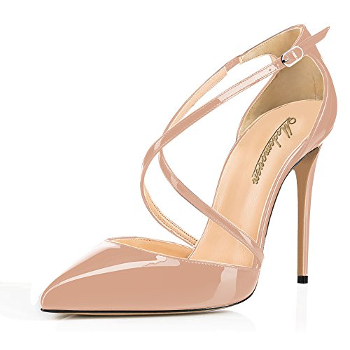 Modemoven-Womens-Beige-Gorgeous-Pointed-Toe-Dorsay-Criss-Cross-High-Heels-Pumps-Sexy-Evening-Stiletto-Shoes-85-M-US-0