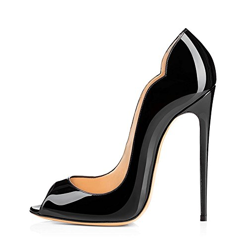 Modemoven-Womens-Black-Patent-Leather-Peep-Toe-Pumps-Gorgeous-Stiletto-High-Heels-Plus-Size-Wedding-Party-Shoes-115-M-US-0-0