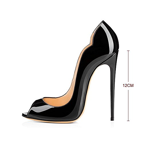Modemoven-Womens-Black-Patent-Leather-Peep-Toe-Pumps-Gorgeous-Stiletto-High-Heels-Plus-Size-Wedding-Party-Shoes-115-M-US-0-2