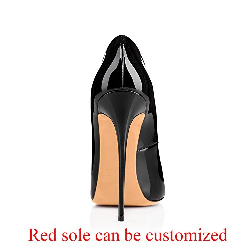 Modemoven-Womens-Black-Patent-Leather-Peep-Toe-Pumps-Gorgeous-Stiletto-High-Heels-Plus-Size-Wedding-Party-Shoes-115-M-US-0-3