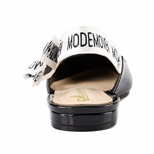 Modemoven-Womens-Black-Patent-Leather-Sling-back-Ballet-PumpsFlat-Shoes-for-WomenSlip-On-LoafersSexy-Mules-5-M-US-0-3