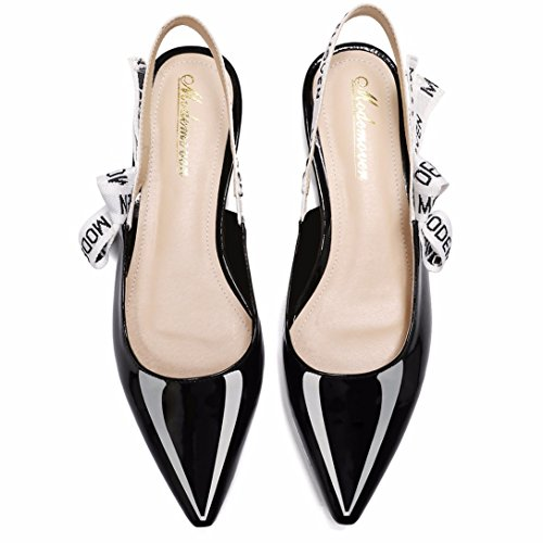 Modemoven-Womens-Black-Patent-Leather-Sling-back-Ballet-PumpsFlat-Shoes-for-WomenSlip-On-LoafersSexy-Mules-5-M-US-0-5