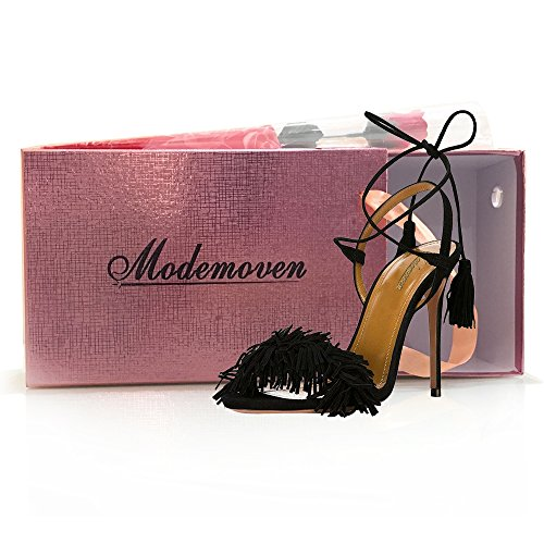 Modemoven-Womens-Black-Suede-Fringe-Open-Toe-Heeled-Sandals-Self-Tie-Straps-Tassel-High-Heels-Stilettos-Shoes-9-M-US-0-5