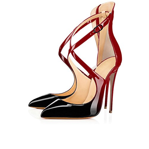 Modemoven-Womens-Pointed-Toe-Red-Black-Heels-Heels-with-Ankle-Strap-Dress-Dorsay-PumpsCriss-Cross-Sandals-85-M-US-0