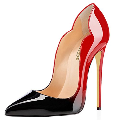 Modemoven-Womens-Sexy-Point-Toe-High-HeelsPatent-Leather-PumpsWedding-Dress-ShoesCute-Evening-Stilettos-Red-and-Black-75-M-US-0