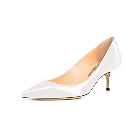 Modemoven-Womens-White-Patent-Leather-Pointed-Toe-Kitten-Heels-Gorgeous-Pumps-Evening-Stiletto-Shoes-55CM-10-M-US-0