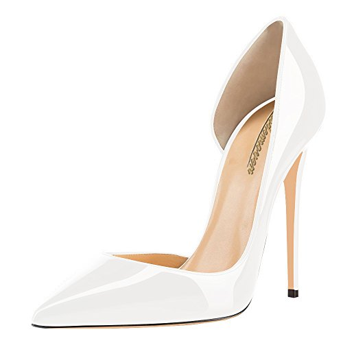 Modemoven-Womens-White-Patent-Leather-Pointy-Toe-D-Orsay-Heels-Wedding-Party-Evening-Pumps-Shoes-Cute-Stilettos-95-M-US-0