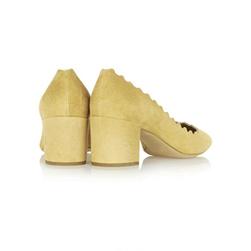 Women-Come-hither-Supersharp-Sophisticated-Pointed-Toe-Heeled-Stiletto-Pumps-Yellow-Size-11-0-2