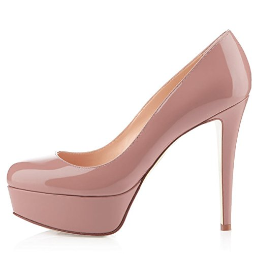 Women-Fashion-Closed-Toe-Platform-High-Heel-Stiletto-Patent-Leather-Dress-Pumps-Dark-Nude-Size-15-0-0