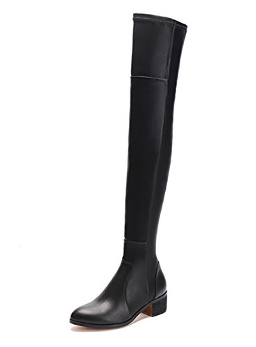 Guoar-Closed-toe-Square-Low-Heel-Over-the-Knee-Thigh-High-Lace-Black-Soft-Leather-Stretch-Boots-us95-0